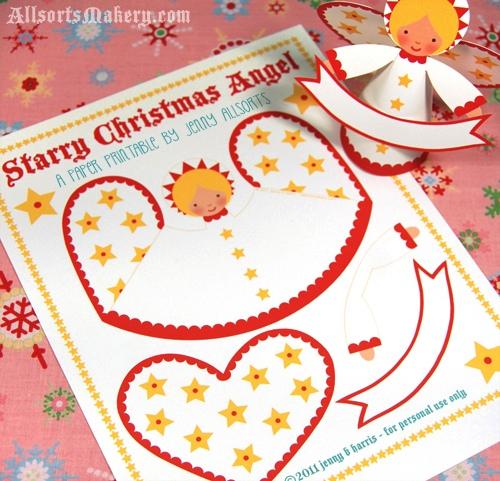 Рождественский ангел Шаблон прилагается!