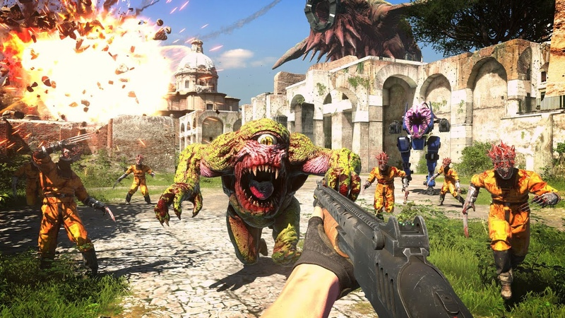 SERIOUS SAM 4 Planet Badass Gameplay Development Reveal New Action FPS Game 2020