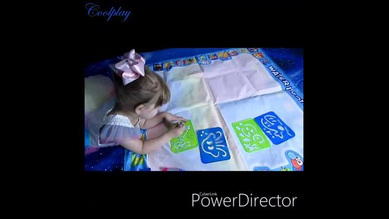 Coolplay 100x100 см волшебный коврик для рисования водой