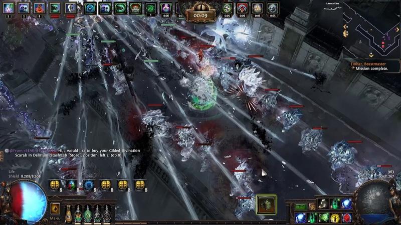 Path of Exile 3 10 Redemption Sentry Spectre Full showcase Megalomaniac Crit Build