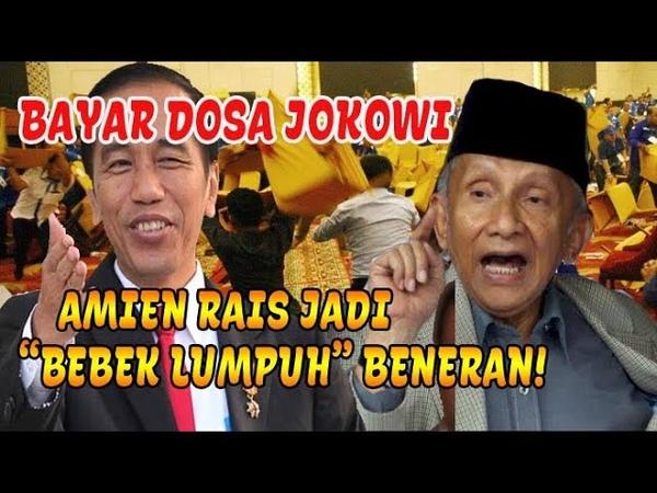 """Bayar Dos4 Sama Jokowi Amien Rais Jadi B3b3ck L*mp*h"""" Beneran"""
