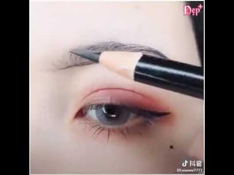 Cách vẽ chân mày và vẽ mắt nè mọi người