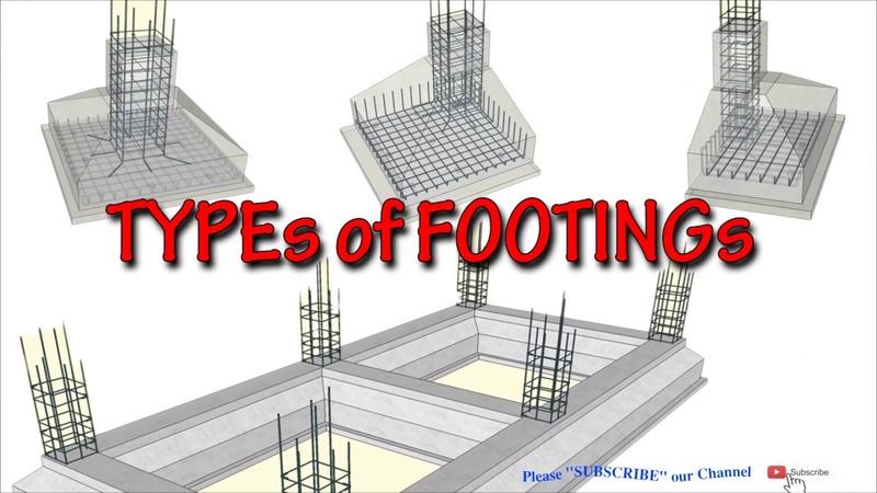 Các loại Kết Cấu Thép Móng Nhà phổ biến nhất I Types of Footings Foundation