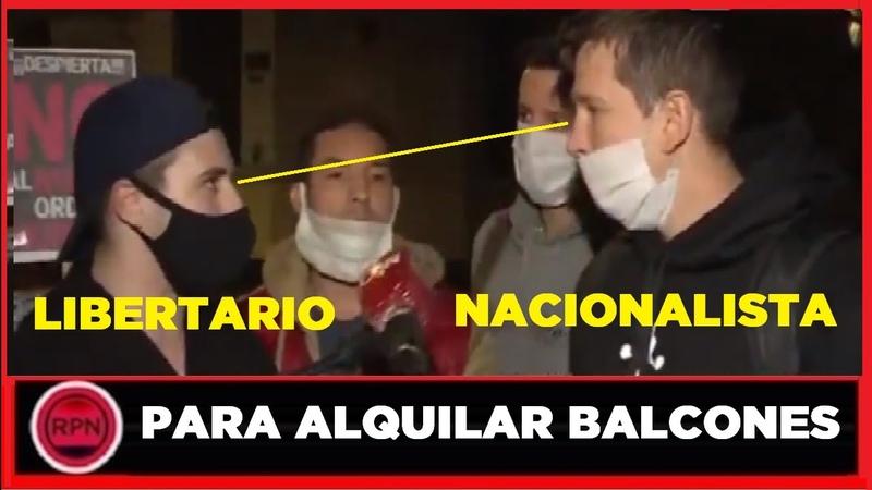 ¡SE PUDRIÓ TODO! en plena marcha anti cuarentena se agarraron libertarios y nacionalistas