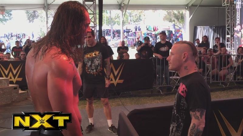 Slipknot's Corey Taylor hits Baron Corbin at the NXT Aftershock Festival