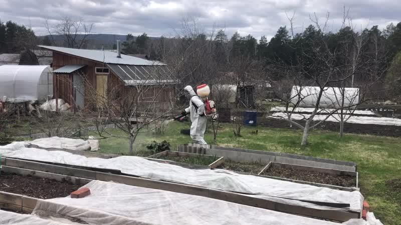 Обработка садового участка  от клещей