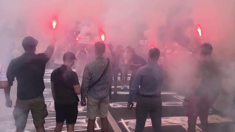 Досить брехати Акція під МВС на підтримку Андрія Антоненка Юлії Кузьменко та Яни Дугарь