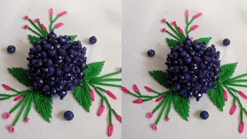 2020 New Hand Embroidery 3d flower design tutorial Very Easy Hand Embroidery Stump Work Design