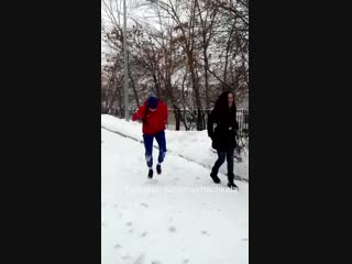 Быканутая по мелочи Нетипичная Махачкала  (кинула в снег)