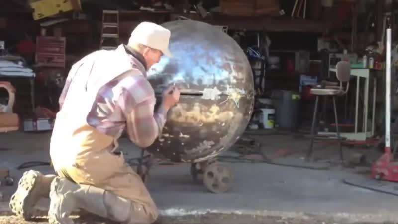 Необычная работа с полусферой из металла Семь раз отмерь
