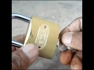 Открываем замок без ключа - Заметки строителя