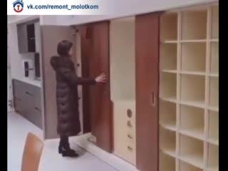 Интересная система для большого шкафа