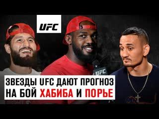 Джонс, Кормье, Масвидаль и другие звезды UFC дают прогноз на исход боя Хабиб vs Порье