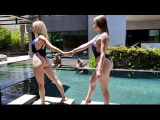 Kenzie Madison, Katie Kush - Steamy Daughter Pool Sex DaughterSw