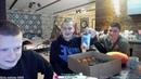 Катя и Игорь дарят свой подарок Сергею на День рождения