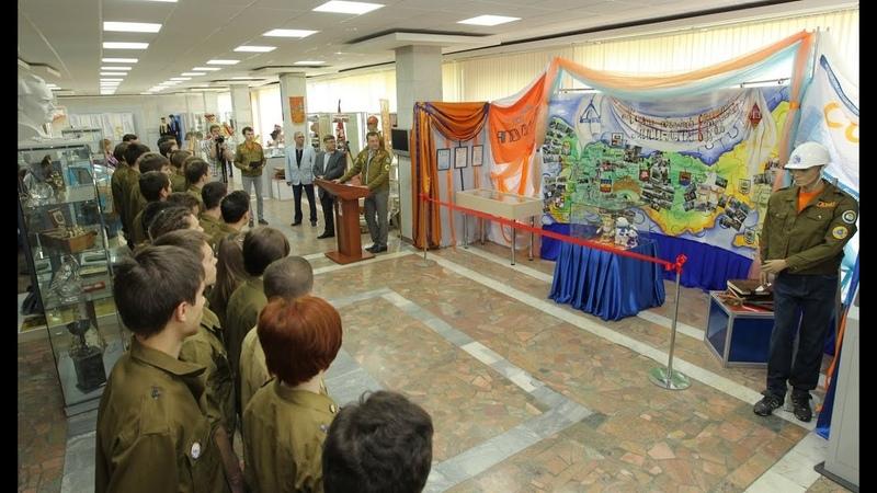 2014 Открытие экспозиции ССО в музее НИУ МГСУ торжественная линейка