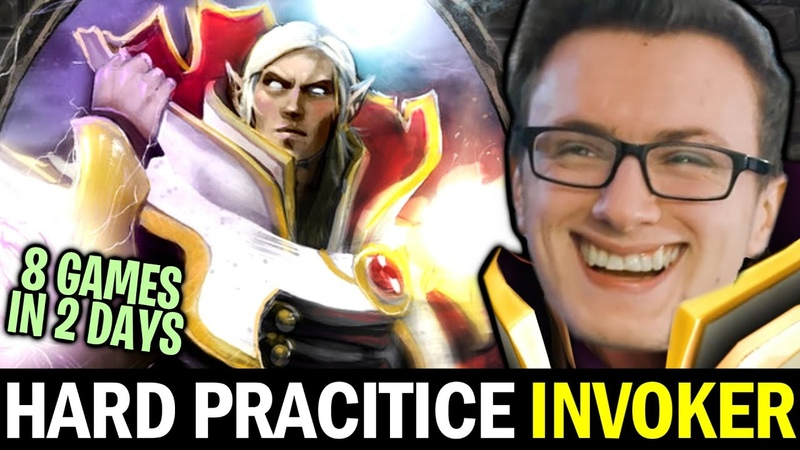 MIRACLE hard practicing his Signature Hero INVOKER — 8 Games in 2 Days