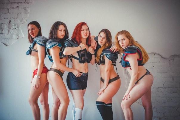 Женская команда по американскому футболу из Владивостока снялась в откровенном фотосете Понравился он не всем... А вам