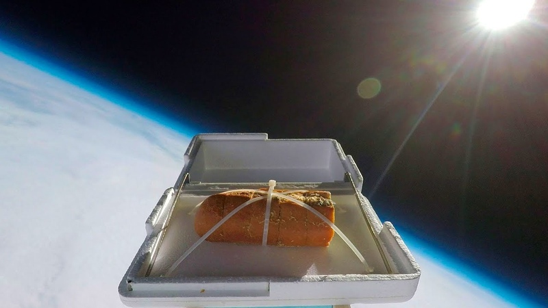 We Sent Garlic Bread to the Edge of Space Then Ate It