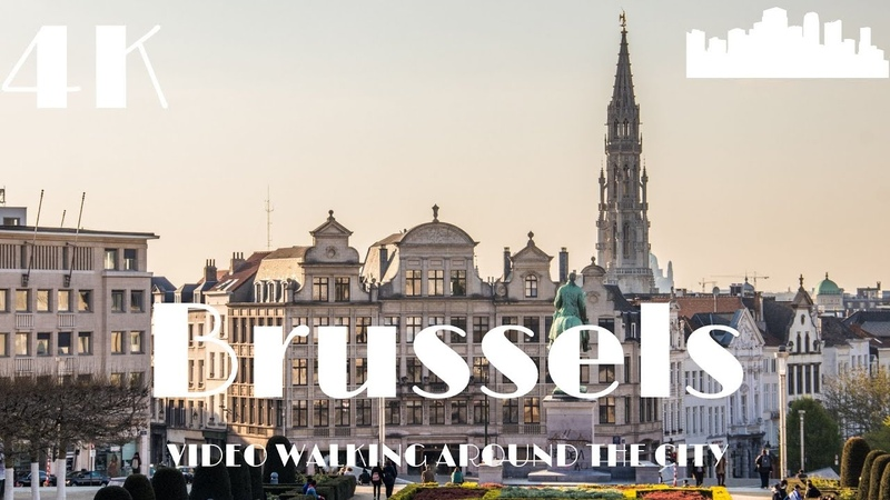 Brussels Belgium 🇧🇪 Walking Europe in 4k Dji Osmo Pocket