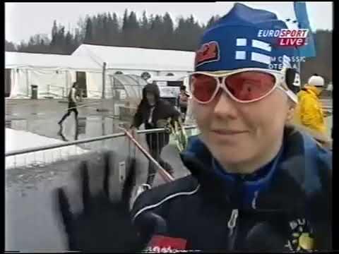 2008 02 09 Кубок мира Отепя лыжные гонки 10 км женщины классический стиль