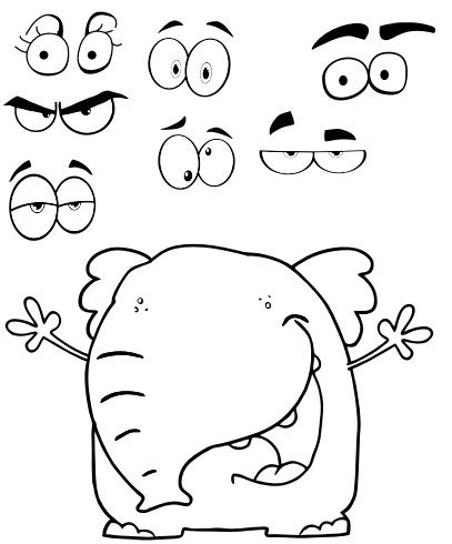 ВЫРЕЗАЙ И СОСТАВЛЯЙ Распечатайте и вырежьте фигуры животных и разные глаза. Чтобы выражение лица изменилось, достаточно заменить одни глаза на другие. Это очень веселое для детей занятие,