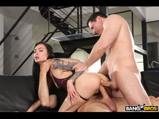 Marley Brinx - Gets Anally Freaky - Anal Sex DP Threesome Teen Deehthroat Natural TIts Gonzo Hardcore Rough Gape MFM Porn, Порно