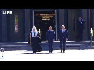 Путин посетил главный храм Вооружённых сил России