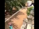 Skilled construction worker throw shovel filled with cement