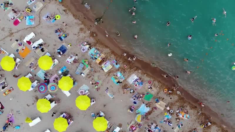 Геленджик в 1 КЛИК. Пляж 2K19 Геленджик с высоты птичьего полёта.mp4