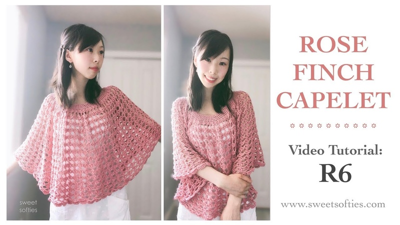 Rose Finch Capelet R6 Tutorial Free Crochet Pattern