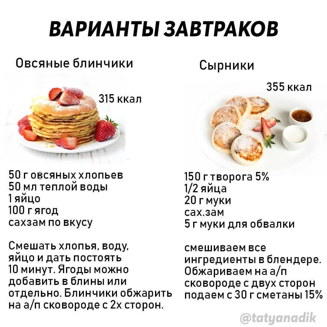 Подборка завтраков