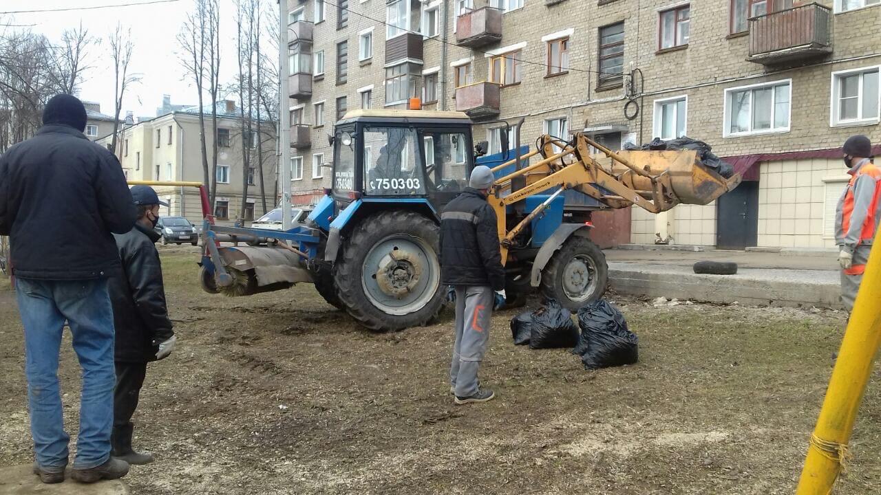 Ул. Большева, 17 Вывоз мусора после проведения