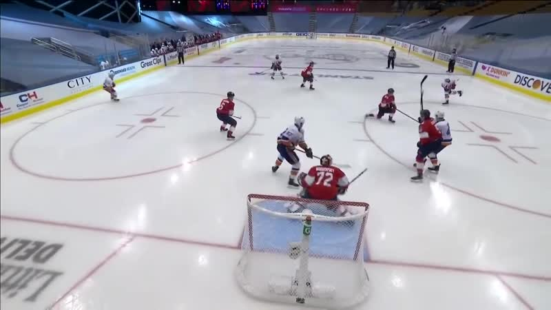 Sergei Bobrovsky Makes Two Point Blank Saves With Anders Lee On The Doorstep