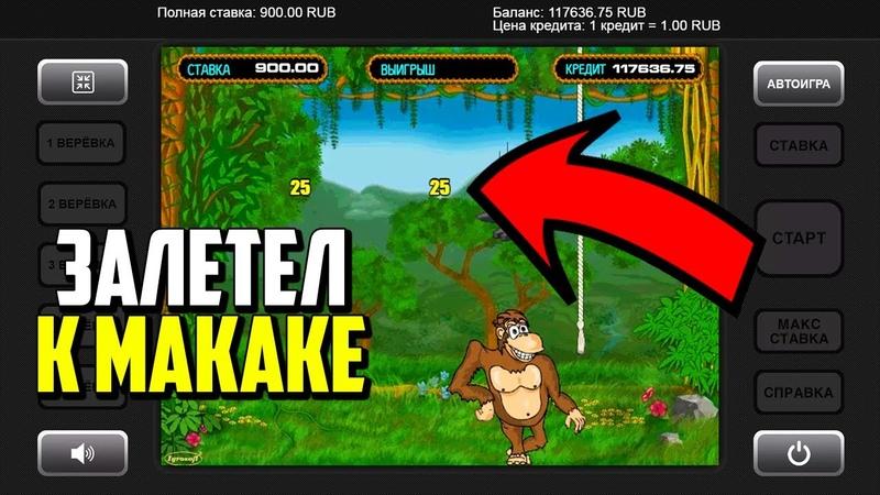 Игровой автомат Обезьянки Crazy monkey Крупный выигрыш в казино на телефоне Вулкан 24 казино
