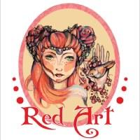 Логотип Red Art: матрешки, портреты, аквагрим в Тюмени