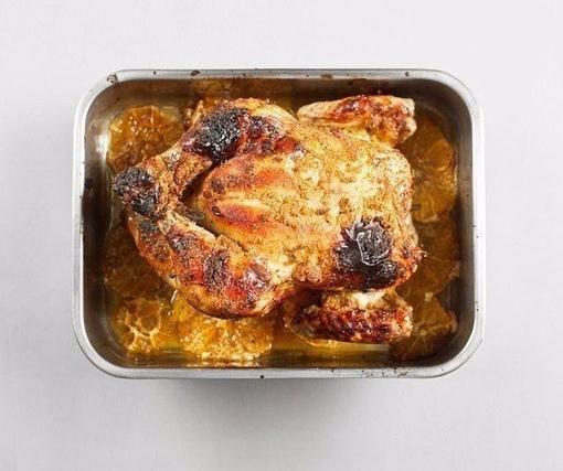 Курица, запеченная с имбирем и апельсинами