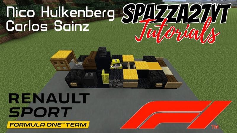 Minecraft Formula 1 Renault Sport 2018 Hulkenberg Sainz Tutorial