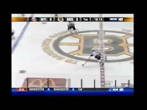 Viktor Kozlov gets a goal 20 for Islanders vs Bruins 2007