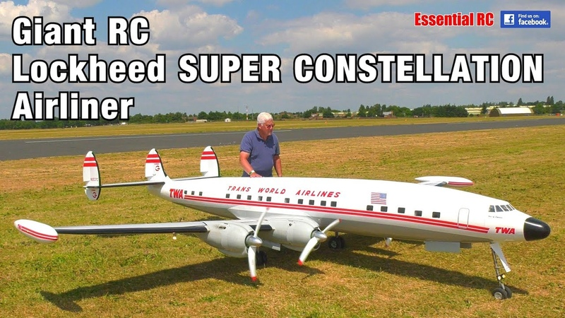 GIANT 1 6 scale Radio Controlled RC Lockheed SUPER CONSTELLATION TWA 'Star of America' AIRLINER