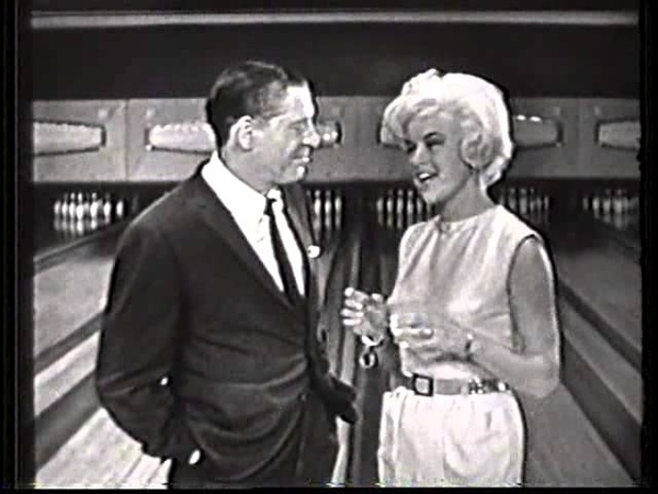 Diana Dors and Milton Berle on Jackpot Bowling 1961