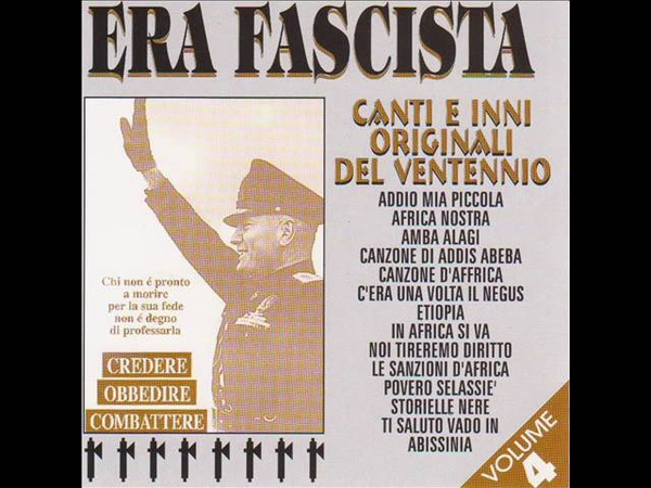 Era fascista Ti saluto vado in abissinia Album Version