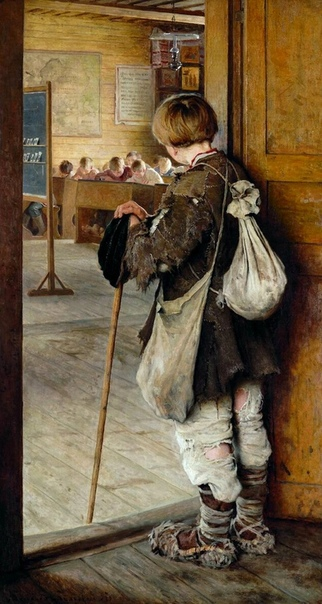 «У дверей школы», Николай Петрович Богданов-Бельский