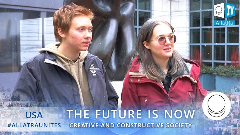 Troye and Jessica USA . Social survey within The Future is Now project on the ALLATRA platform