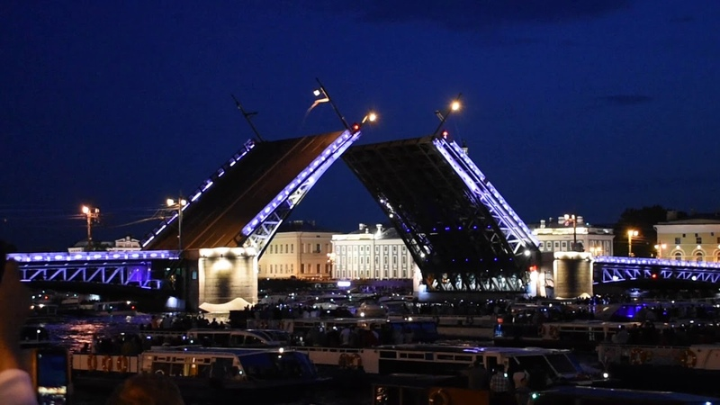 Misha's Day 59 Movable Bridges in St Petersburg