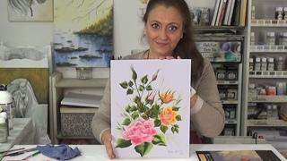 Como pintar una rosa del capullo a la flor abierta