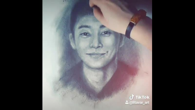 Itaewon Class Park Sae Roy sketch itaewonclass parksaeroy charcoaldrawing