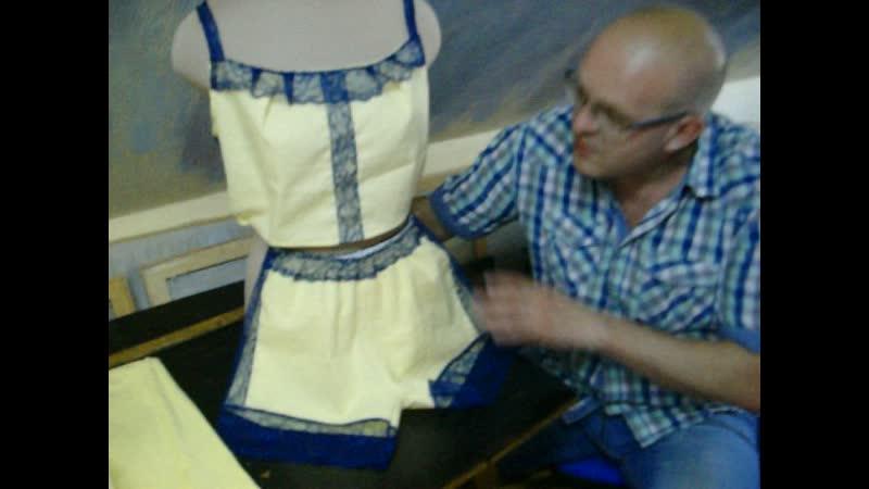 комплект белья из хлопка в доме моделей одежды Ирина Серебрянная