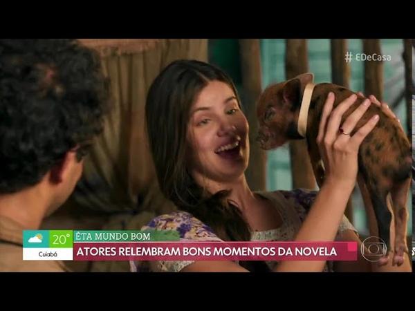 Camila Queiroz e Klebber Toledo no É de Casa