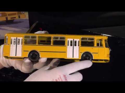 Автобус ЛИАЗ 677м 1 43 Советский автопром в журнальном варианте Луноход Бровястый Скотовоз